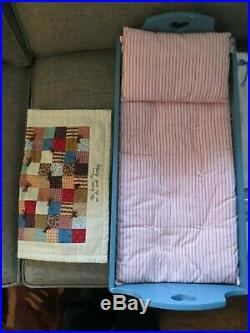 American Girl Kirsten Lot Doll, Trunk, Bed with quilt, 3 Outfits, 2 cats, book