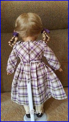 American Girl Kirsten Plaid Dress Promise Outfit Complete with Ribbons