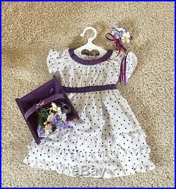 American Girl Kirstens Midsummer Outfit! Complete With Basket And Flowers