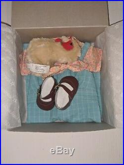 American Girl Kit Doll Kits Chicken Keeping Outfit Set 2015 with chicken plush