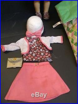 American Girl Kit Kiteridge doll, retired meet outfit, school outfit, and bed