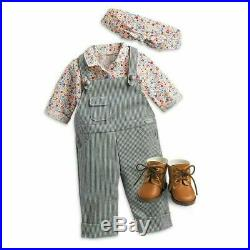 American Girl Kit's GARDEN STAND and GARDENING OUTFIT set overalls NO Doll