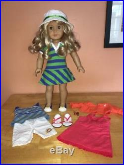 American Girl LANIE Lot Doll+Book+Meet+Butterfly+Garden Outfits Clothes