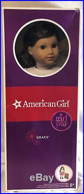 American Girl LE GRACES 18 DOLL & BOOK Outfit Brown Hair Blue Eyes in box