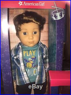 American Girl LOGAN EVERETT DOLL FIRST BOY DOLL AND HIS OUTFIT NEW IN BOXES NRFB