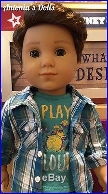 American Girl LOGAN EVERETT DOLL NEW WITH MEET AND PERFORMANCE OUTFITS