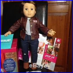 American Girl LOGAN doll + Performance Outfit-Tenney band-mate-New without box