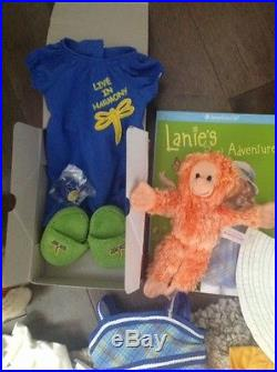 American Girl Lanie Holland 2010 Doll monkey outfits lot