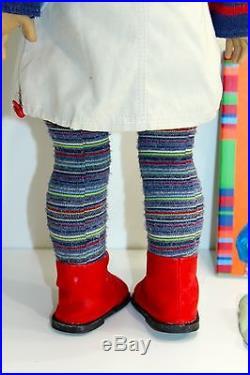 American Girl Lindsey Bergman Doll, original Meet Outfit Book Pleasant Company