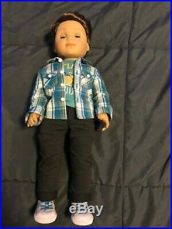 American Girl Logan Everett 1st Boy 18 Doll With Outfit Gently Used