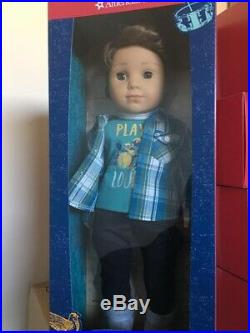 American Girl Logan Everett 1st Boy 18 Doll with NIB Performance Outfit+ free T