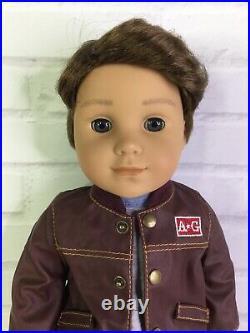 American Girl Logan Everett Boy Doll Brown Hair Gray Eyes & Performance Outfit