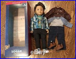 American Girl Logan Everett Boy Doll Tenneys BFF In Box Plus Performance Outfit