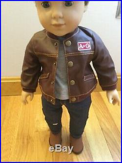 American Girl Logan Everett Doll Wearing Performance Outfit New