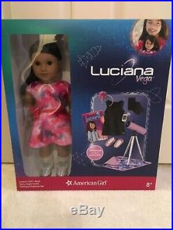 American Girl Luciana Vega Brand New w Book 2 Outfits and Accessories
