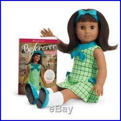American Girl MELODY 18 DOLL & BF BOOK Dress Shoes Sweater Beforever Outfit NEW