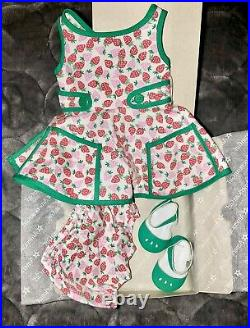 American Girl Maryellen Strawberry Outfit Retired New, Dress, Bloomers Shoes