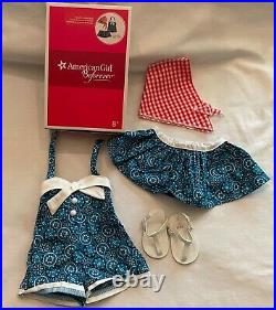 American Girl Maryellen Vacation Playsuit Outfit Complete In Box FREE SHIPPING