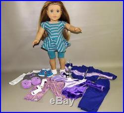 American Girl Mckenna 2012 Doy 18 Doll Leotard Gymnastics Outfits Lot- Read