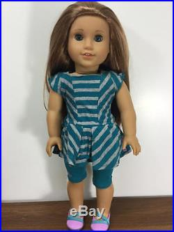 American Girl Mckenna Doll In Original Outfit + Cheerleader Outfit, Box