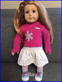American Girl Mia in original Meet Outfit + extra set of practice clothes (new)