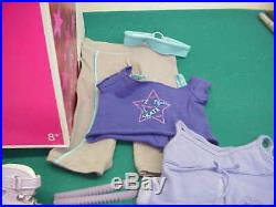 American Girl Mia original box never removed skates 2 extra outfits Book