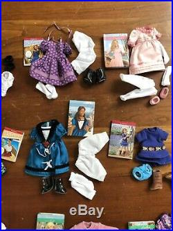 American Girl Mini Doll HUGE Outfit 6.5 Clothes Books LOT of 25 Full Sets New