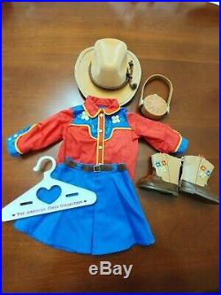 American Girl Molly Dude Ranch Outfit & Embroidered Boots- Complete- Retired