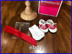 American Girl Molly Poinsettia sweater and skirt outfit, excellent condition