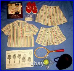 American Girl Molly Special Edition Tennis Outfit with Racket, Cover, Bow, Shoes