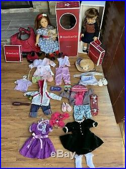 American Girl Molly and Emily lot GREAT COLLECTION (2 Dolls 6 Outfits +)