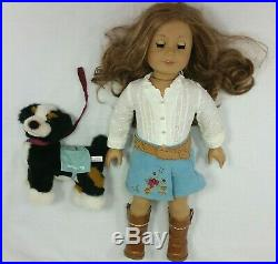 American Girl Nicki Doll And Dog Meet Outfit Cowgirl Boots Retired GOTY Nikki