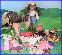 American Girl Nicki Doll of the Year 2006 w Horse Jackson & all of her Outfits