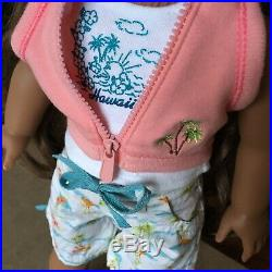 American Girl Of The Year 2011 Retired Kanani Doll Island Vacation Outfit