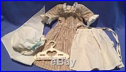 American Girl Pleasant Co Felicity Work Gown Outfit with Hanger COMPLETE