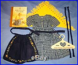American Girl Pleasant Co Kirsten Checked Dress On The Trail Outfit COMPLETE