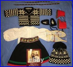 American Girl Pleasant Co Kirsten Winter Outfit with Woolens, Boots, Pamphlet