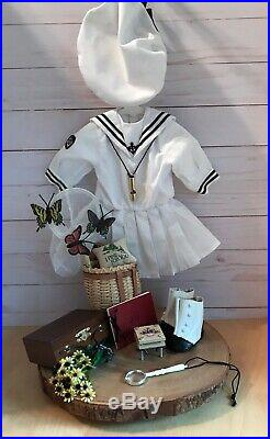 American Girl Pleasant Co RETIRED Samantha 1992 Summer Outfit with Accessories Set