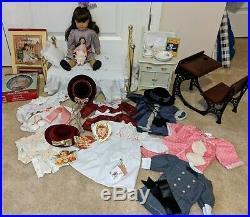 American Girl Pleasant CompanySamantha 18 Doll &7 Outfits & Bed & Desk & MORE
