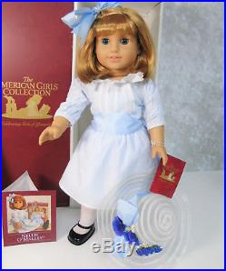 American Girl Pleasant Company 18 DOLL NELLIE in MEET OUTFIT + Hat Book AG BOX