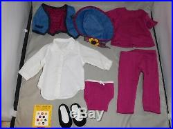 American Girl Pleasant Company Asian Doll #4 Retired Agot 1st Meet Outfit Euc