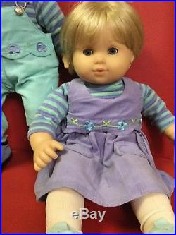 American Girl Pleasant Company Bitty Baby Twins with outfits and book blondes