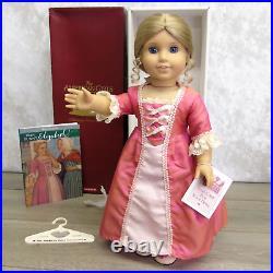 American Girl Pleasant Company Doll ELIZABETH In MEET OUTFIT Earrings Book BOX