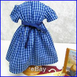 American Girl Pleasant Company KIRSTEN CHECKED TRAIL DRESS OUTFIT Apron Scarf +