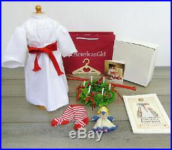 American Girl Pleasant Company KIRSTEN'S DOLL ST SAINT LUCIA OUTFIT WREATH BOX +