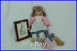 American Girl Pleasant Company Kirsten Doll With Meet Outfit Blond With Blue Eyes