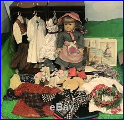 American Girl Pleasant Company Kirsten Doll w Trunk & 11 HTF Outfits etc