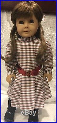 American Girl Pleasant Company White Body Samantha Doll Meet Outfit Slate Eye
