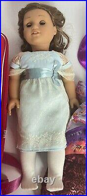 American Girl REBECCA Retired 3 outfits & Carrying case Excellent