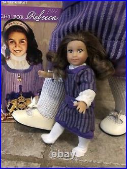 American Girl Rebecca Rubin Doll Brown Hair Hazel Eyes Retired Hanukkah Outfit
